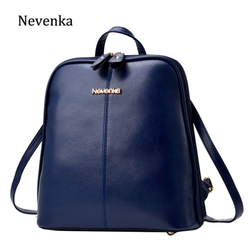 Women Leather Backpack Female Navy Blue Backpacks for Girls Mini Backpack for Teenagers Satchels Girls School Bags 2019