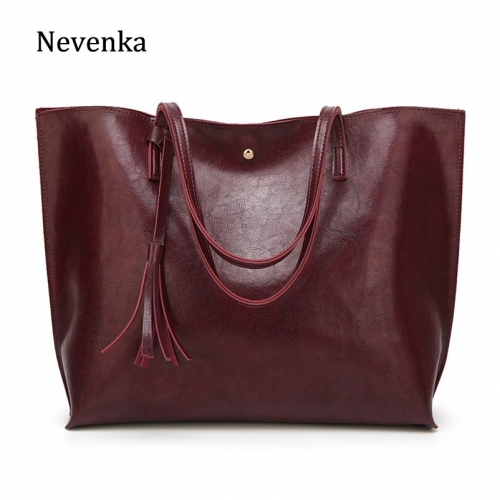 Nevenka Women Large Totes Leather Handbags Female Vintage Tote Bag Ladies Big Shopping Bags Ladies Hand Bags for Women 2018