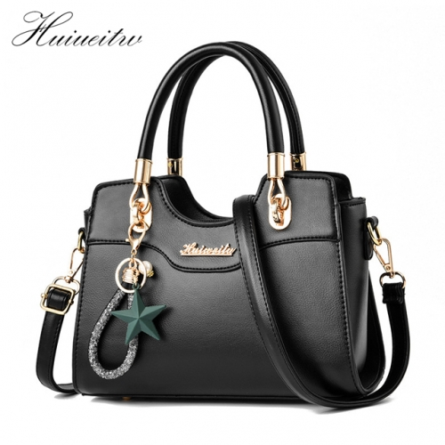 Huiueitw handbags Fashion Women Handbags Tassel PU Leather Totes Bag Crossbody Bag Shoulder Bag Lady Simple Style Hand Bags